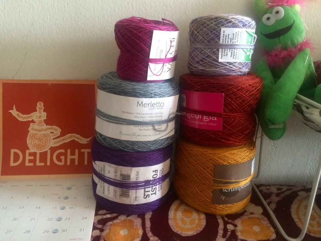 pile of yarn