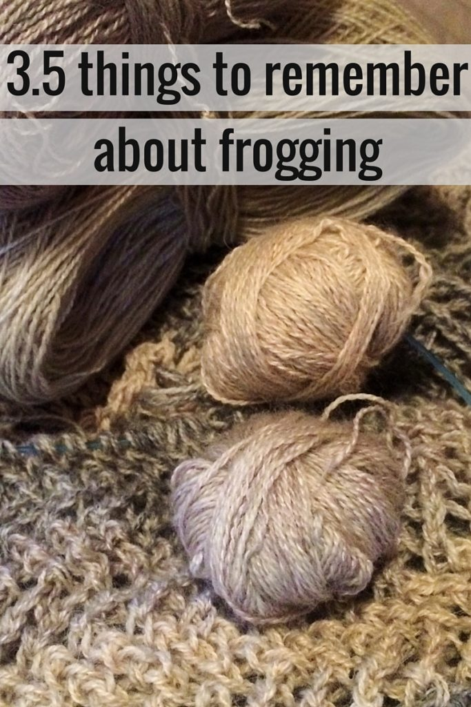 3.5 things to remember about frogging