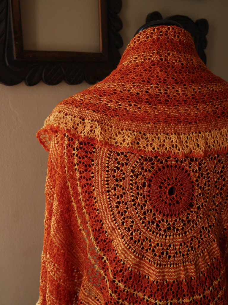 Eirwen knitted shawl 3