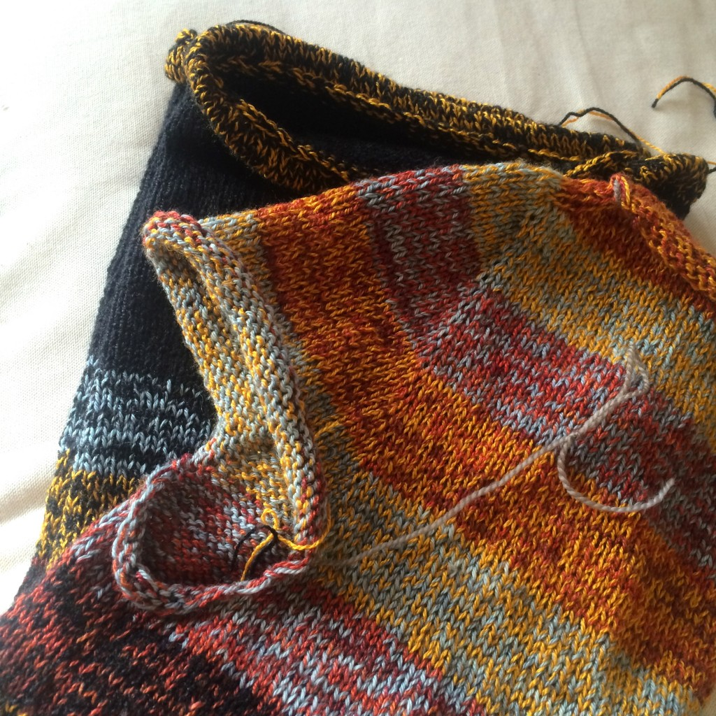half finished sweater