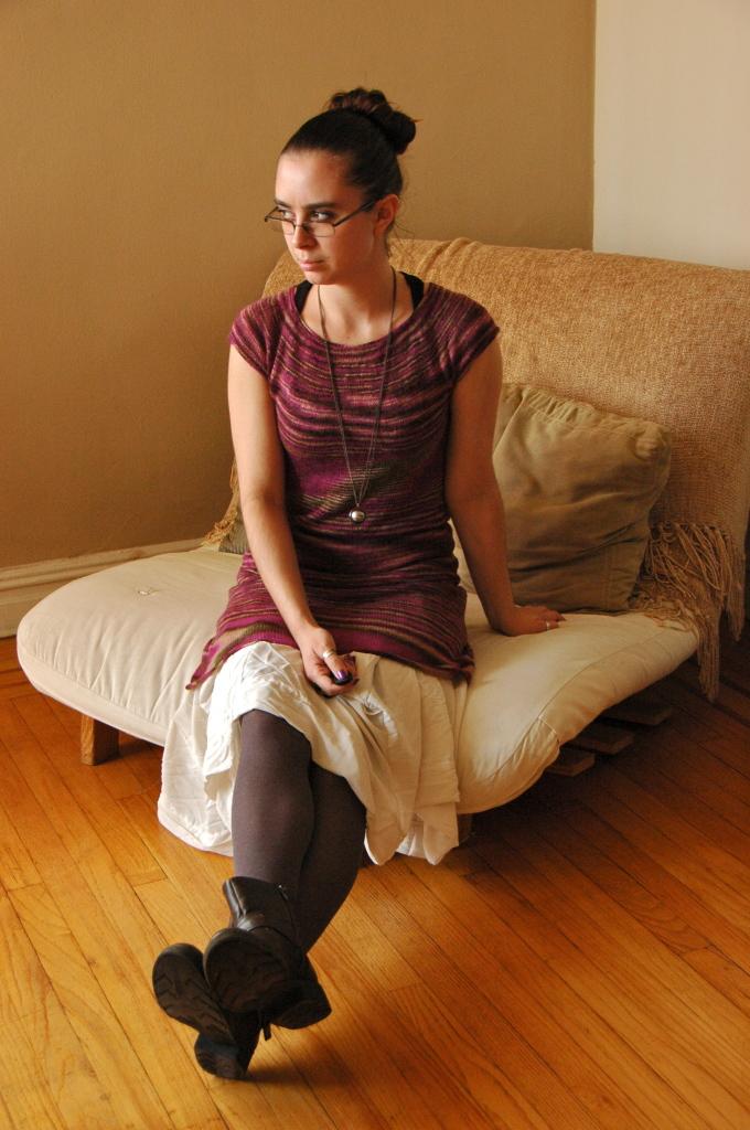hand knit sweater dress 2