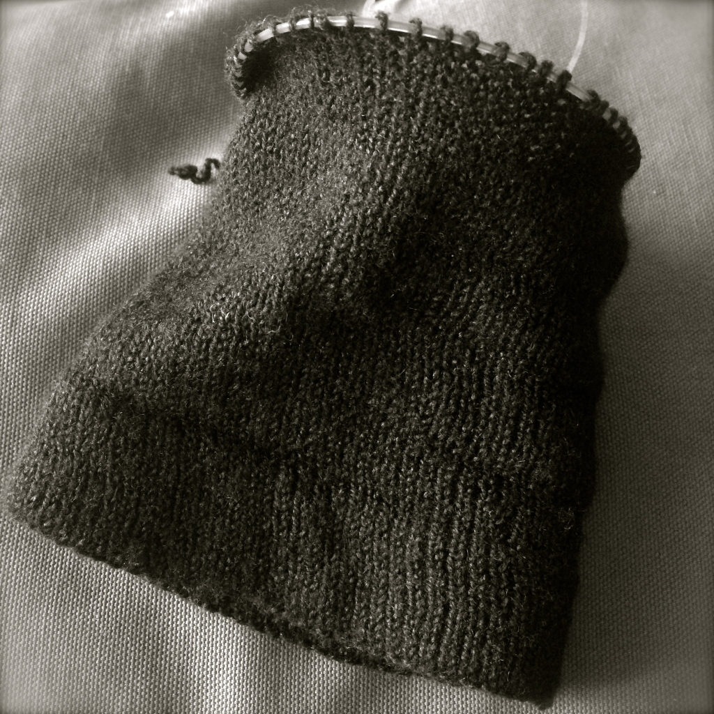 knitted cuff