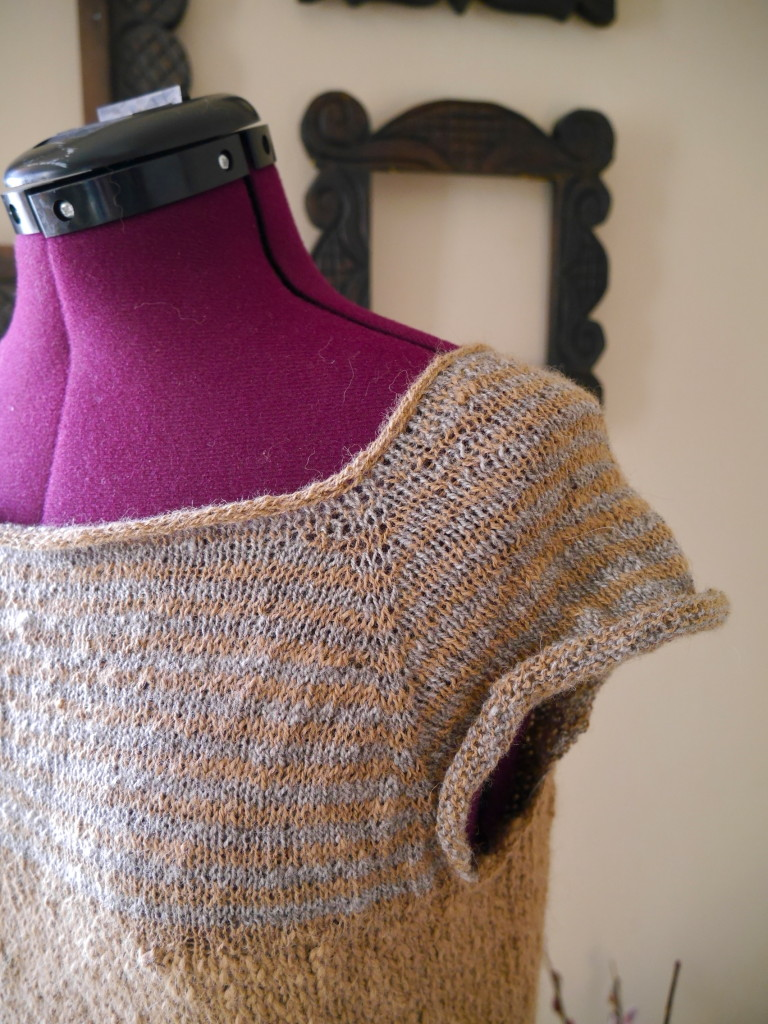 hand-spun hand-knit sweater