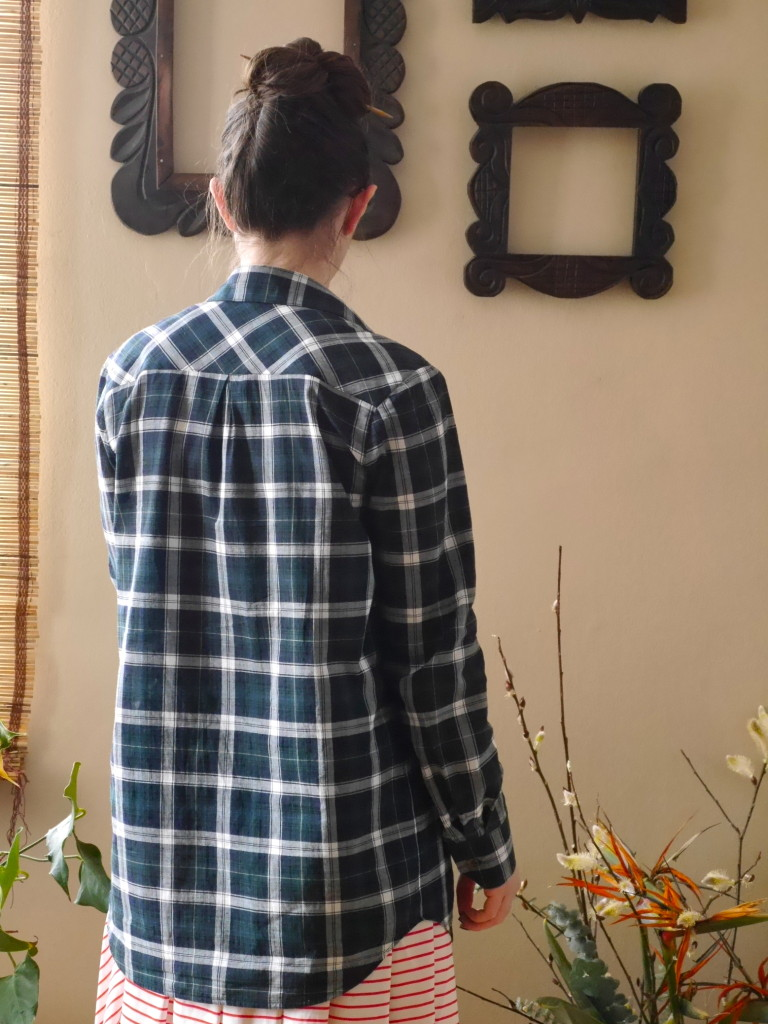 Archer button up shirt - back view