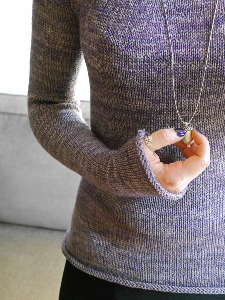 knitted-purple-pullover