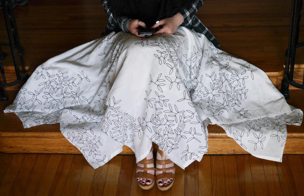 vine-print-skirt