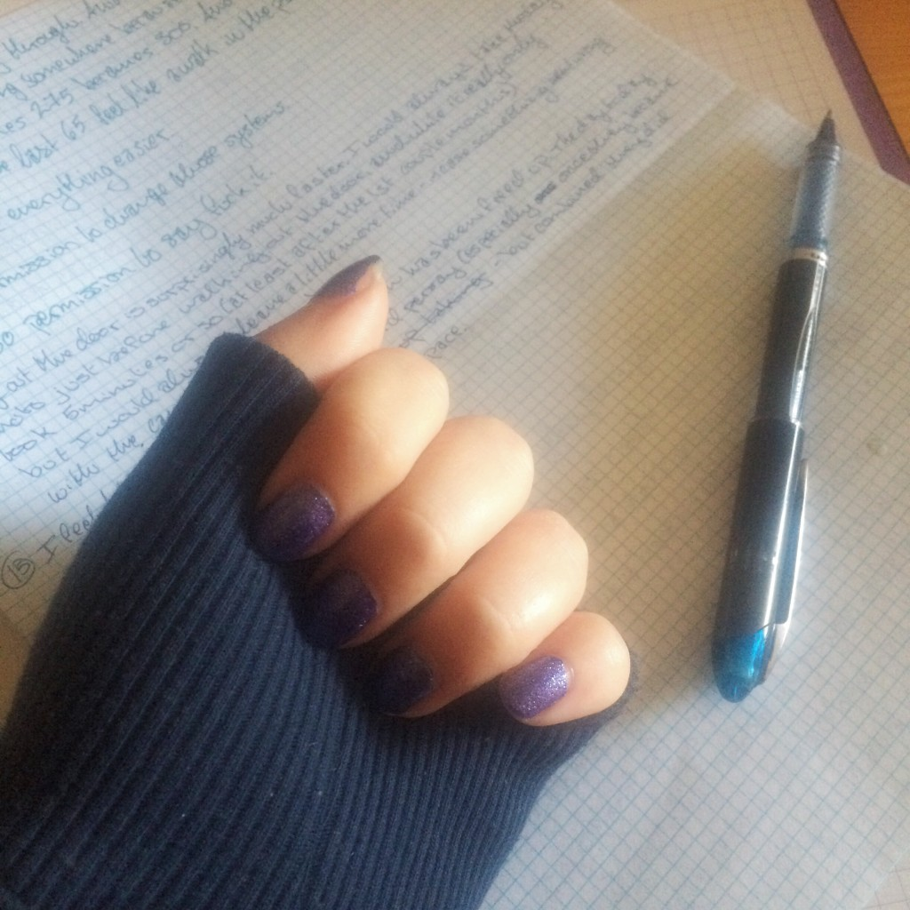 sweatshirts and writing