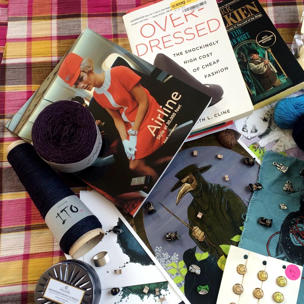 books and yarn