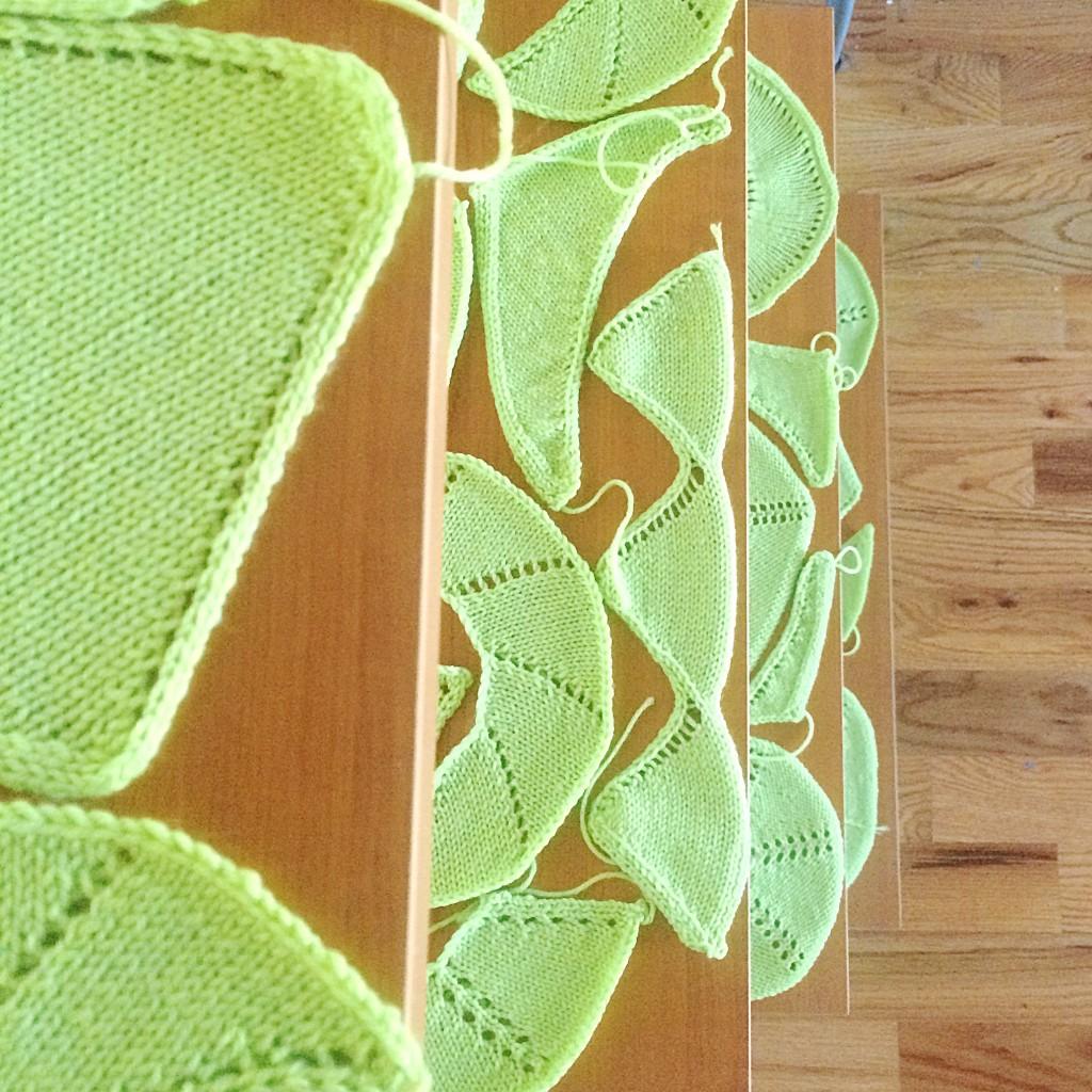 shawl shape swatches