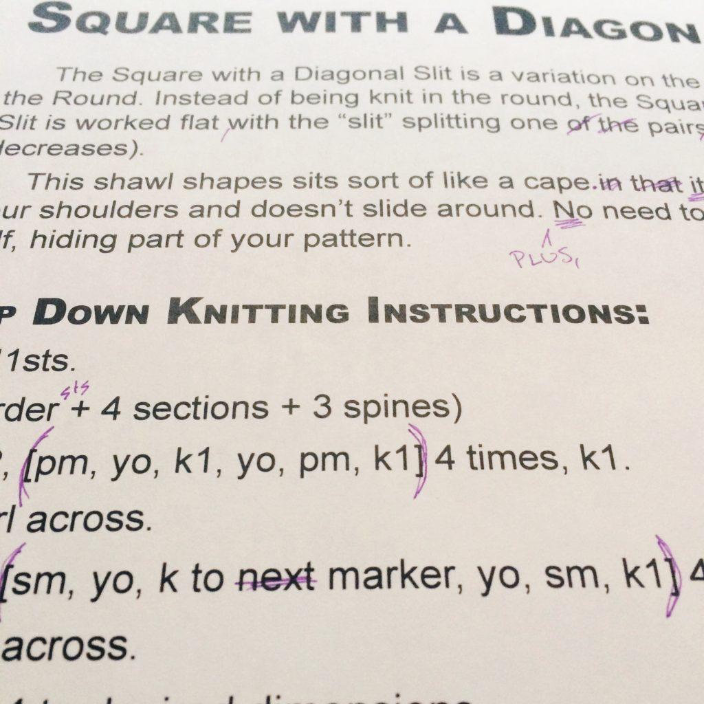 editing shawl geometry book