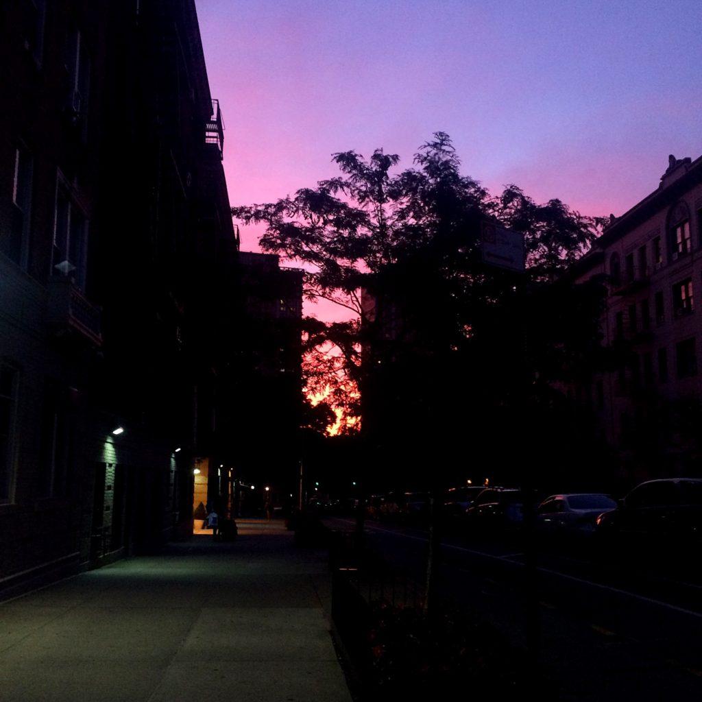 street-sunset