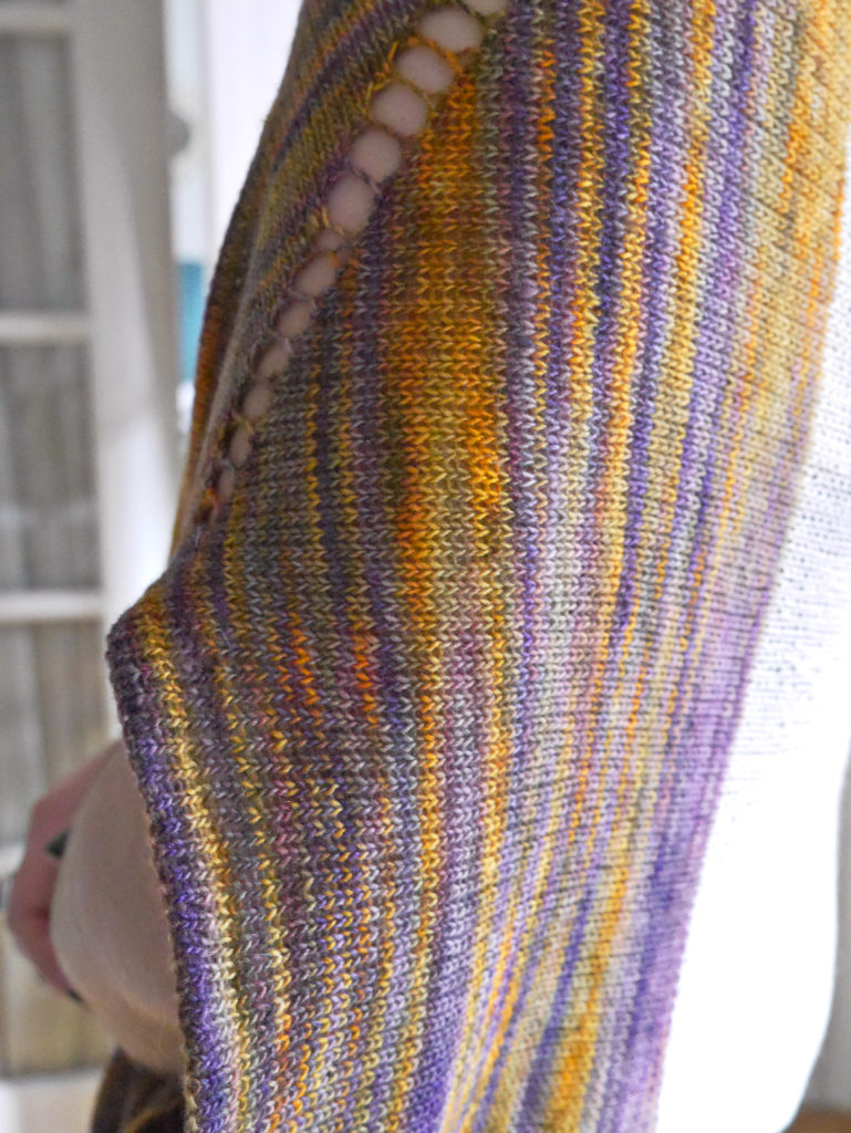 Banaue Breeze Sweater knit with varigated yarn