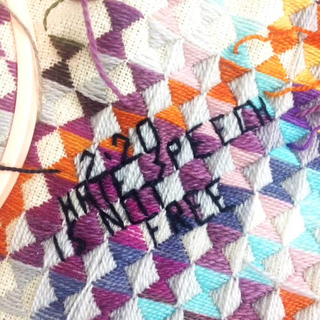 hate speech is not free stitching