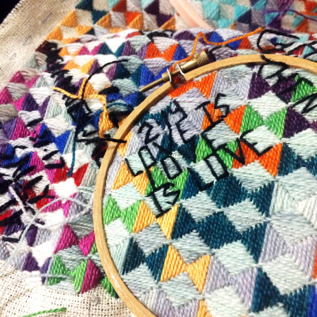 love is love is love stitching
