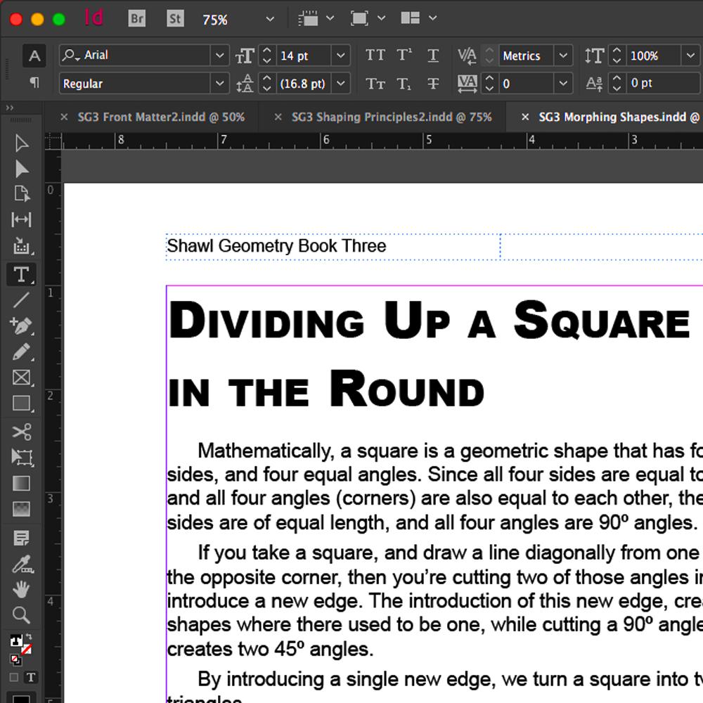 Shawl Geometry Book Three layout